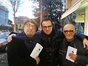 Con il maestro Domenico Pelini e Tommaso Di Ienno (Ph Angelo Sabanito Polizzi)