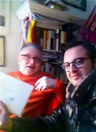 Con Roberto Carifi