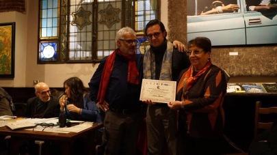 Menzione d'onore. Premio Rebora 2019. Giubbe Rosse, Firenze. Con Diego De Nadai