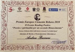 Menzione d'onore. Premio Rebora 2019. Giubbe Rosse, Firenze