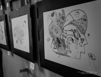 Disegni di Andrea Bassani (Penna su foglio Fabriano, 36x50 cm)