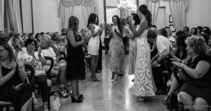 un momento della sfilata dell'Atelier Privé arte, moda e cultura dell'avv. Patrizia Altomare