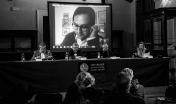 con Alessandro Salvatore, Pio Meledandri, Clemente Francavilla, Gabriella Grande