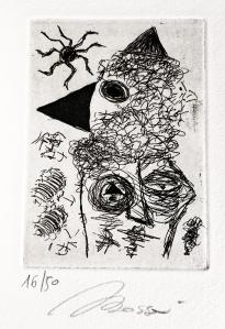 Sia poesia Incisione originale di Andrea Bassani