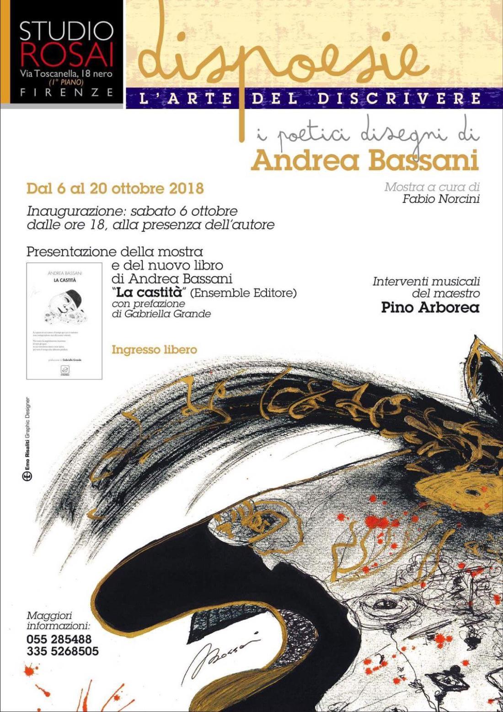 Dispoesie di Andrea Bassani - Studio Rosai, Firenze 6-20 ottobre 2018 A cura di Fabio Norcini